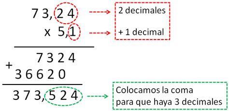 libro operaciones con decimales operations multiplicaciones con decimales matem 225 ticas de primaria