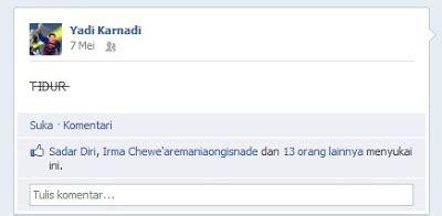 membuat facebook sekolah cara membuat update status facebook dengan kalimat dicoret