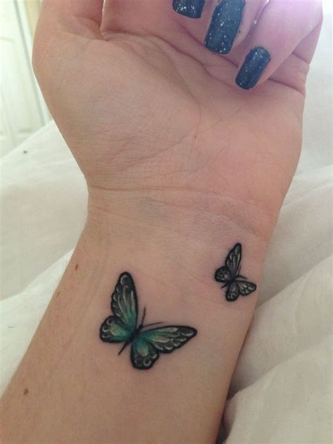 small blue butterfly tattoo 25 best ideas about butterfly wrist on