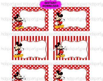 Free Printable Mickey Mouse Gift Tags