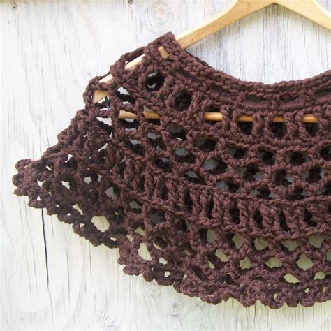 knitting architect dark chocolate lace cape pattern