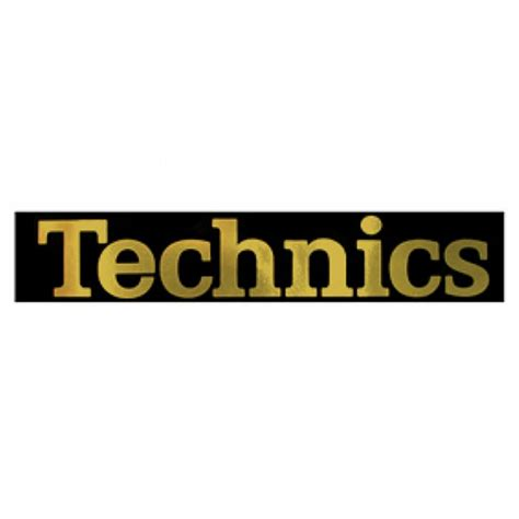 technic logo technics technics sticker gold logo pack of 4 for