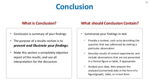 conclusion in research paper exle how to write research paper