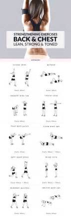 chest and back strengthening exercises lean strong and