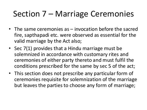hindu marriage act section 5 marriage uner hindu law