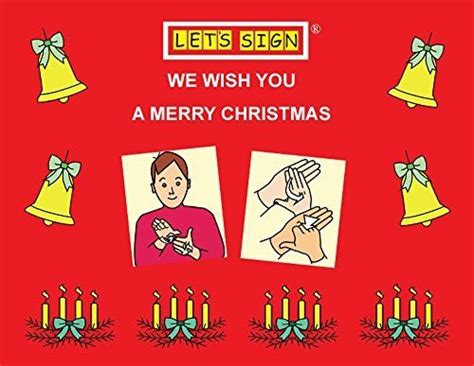 merry christmas  bsl signs lets sign bsl  cath smith httpwwwamazon