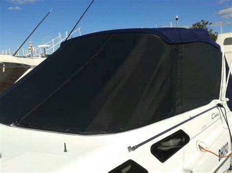 boat upholstery perth black horizon mesh fwd cover prestige marine trimmers