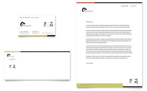 Veterinary Clinic Business Card Letterhead Template Design Veterinary Business Plan Template
