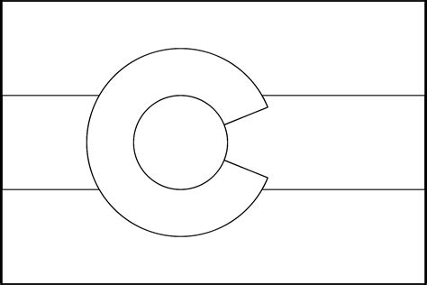 Colorado Flag Black And White Pictures To Pin On Pinterest Colorado State Flag Coloring Page