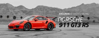 At Porsche Drive A Porsche 911 Gt3 Rs At Exotics Racing Las Vegas