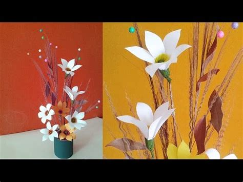 Best Out Of Waste Paper Craft - easy paper flower vase recycled craft idea best