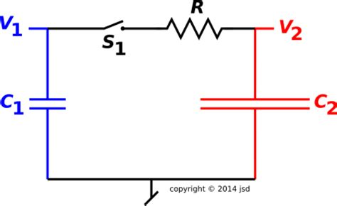 switched capacitor loss capacitor to capacitor transfer of energy and gorge