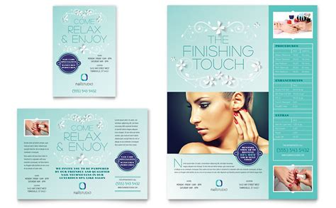 marketing leaflet template nail technician flyer ad template word publisher