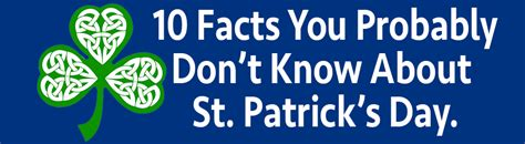 a few facts about blue you need to know before committing 10 facts you probably don t know about st patrick s day
