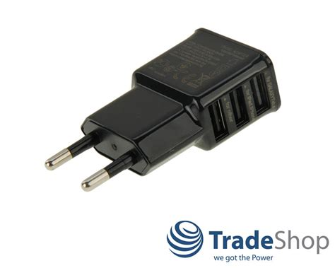 Powerbank Philips 10400mah Black mini 2a netzteil mit 3x usb stecker steckdose adapter 220v