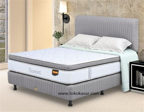 Ranjang Besi 160x200 paramount pocket top style toko kasur bed murah simpati furniture