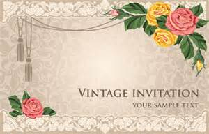 vintage invitation cards background vector free vector in