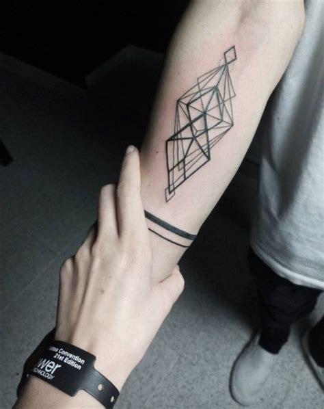 geometric tattoos for men best 25 geometric tattoos ideas on mens