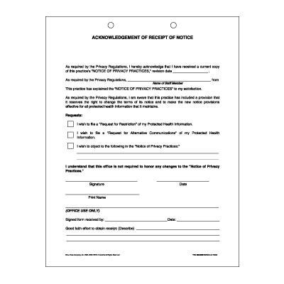 notice of receipt and acknowledgement template acknowledgement of receipt of notice