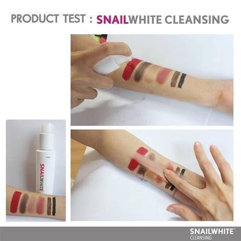 Snail White Cleanser Original snail white cleansing deeply make up remover thailand best selling products shopping