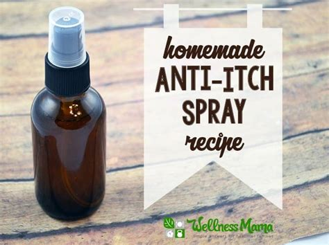 anti itch spray with menthol aloe herbs and