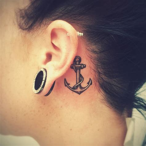 35 unusual behind the ear tattoos