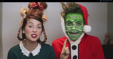 grinch makeup tutorial zoella zoe sugg zoella280390 on yt joe sugg thatcherjoe on
