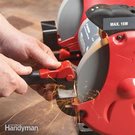 how to use a bench grinder bench grinders choosing the right wheel the family handyman