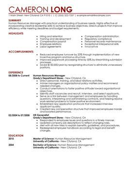 resume food service industry