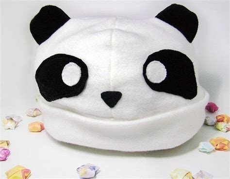 Cool Cheap Home Decor Fleece Panda Hat 183 An Animal Hat 183 Sewing On Cut Out