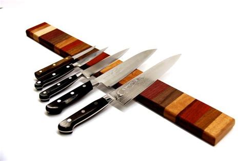 rainbow wood magnetic knife strip   rainbow wood