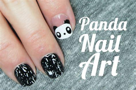 imagenes de uñas decoradas con osos u 241 as decoradas con animales paso a paso oso panda nail