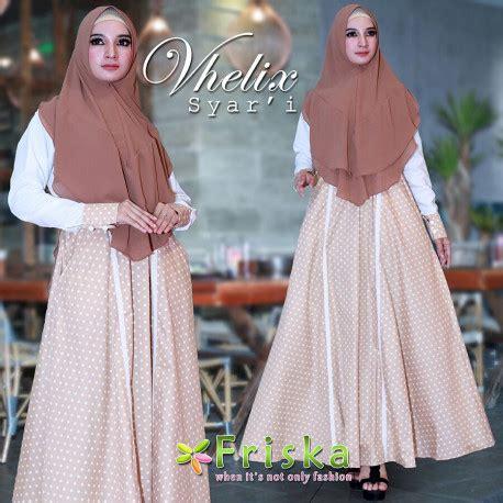 Wn0705 Syafillah Syari Choco Blue gamis syari cantik vhelix syari by friska pusat grosir baju muslim