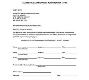 Authorization Letter For Bank Signature signature authorization letter company signature authorization letter