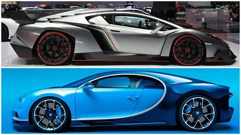 Lamborghini Veneno Vs Bugatti 2017 Bugatti Chiron Vs Lamborghini Veneno