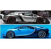 2017 Bugatti Chiron Vs Lamborghini Veneno  YouTube