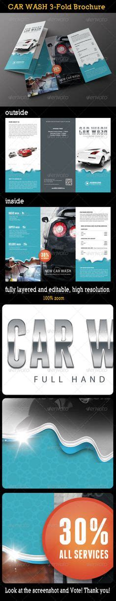 Car Wash Flyer Template Automobile Cars And Fonts Franchise Brochure Templates