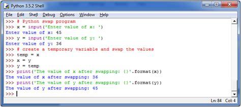 python tutorial javatpoint python swap two variables javatpoint