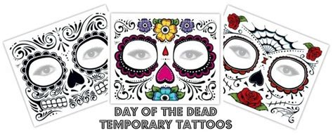 day of the dead temporary tattoos day of the dead temporary tattoos spooky inkspiration