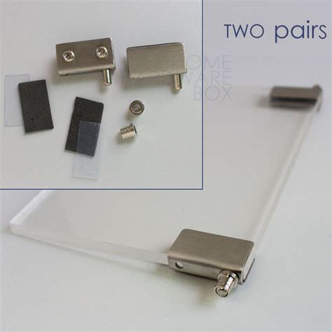 Hinges For Glass Cabinet Doors Cabinet Showcase Glass Door Pivot Hinges Stainless Steel Cls 1 4 Quot Bracket Ebay