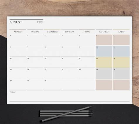 sale monthly wall planner printable large