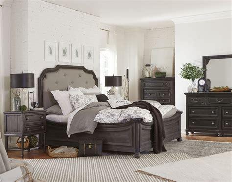 island bedroom furniture bedford corners black upholstered island bedroom set