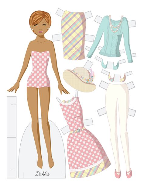 A Paper Doll - paper doll school a family at easter paper doll set