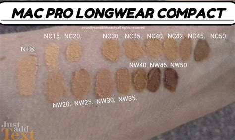 Mac Nw25 Foundation mac pro longwear compact foundation review swatches of