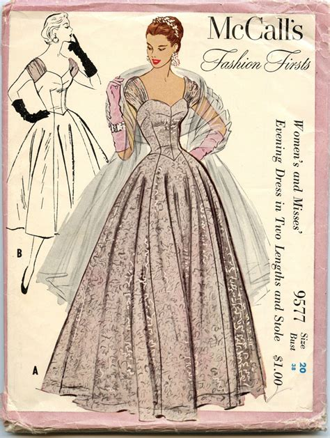 vintage mccalls pattern 1950s vintage sewing pattern mccalls 9577 fashion firsts