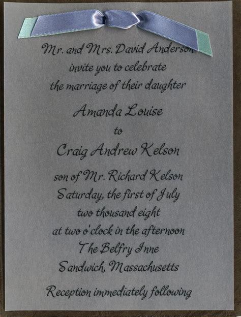 wedding invitation vellum overlay 8 best images of blue handmade wedding invitations