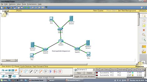 tutorial cisco packet tracer 3 router tutorial cara membuat simulasi 1 router untuk 3 jaringan