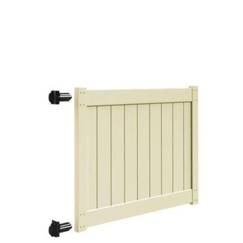 veranda 5 ft w x 4 ft h sand vinyl drive fence gate kit