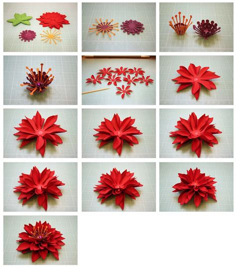 How To Make Paper Mums - bits of paper 3d paper flowers