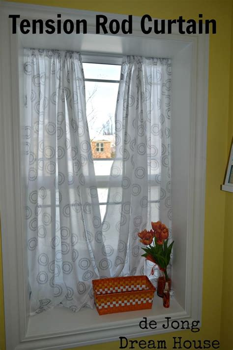 De Jong Dream House Tension Rod Curtain In Deep Window